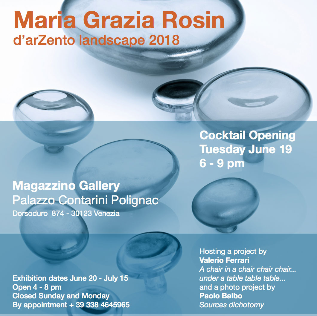 Maria Grazia Rosin, 19 June -15 July 2018